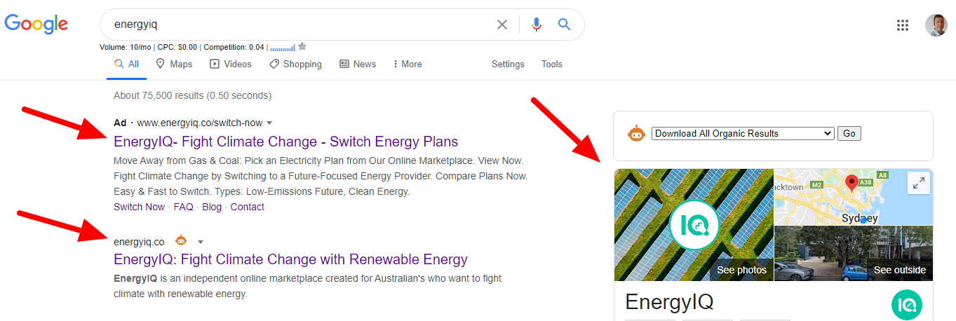 Greater Leads SEO Case Study- EnergyIQ